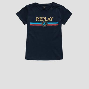 Cotton t-shirt with writing- REPLAY&SONS SG7491_055_22536P_715_1
