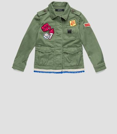 Girls' jacket with ethnic panel- REPLAY&SONS SG8154_050_70436_314_1