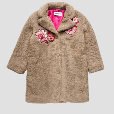 Embroidered coat in eco-sheepskin- REPLAY&SONS SG8214_050_83442_215_1