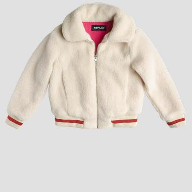 Eco-sheepskin bomber jacket with zipper- REPLAY&SONS SG8215_050_83538_013_1