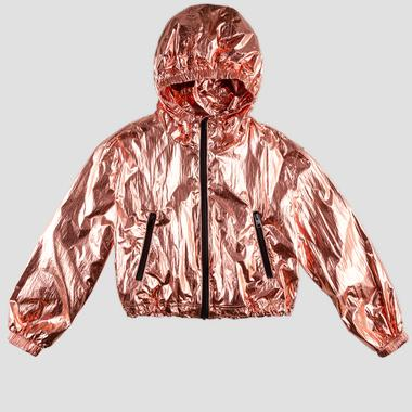Replay jacket in laminated nylon- REPLAY&SONS SG8225_050_83614_010_1