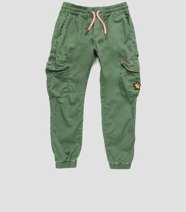 Girls' cotton trousers- REPLAY&SONS SG9255_050_80650_314_1