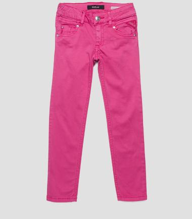 Girls' stretch satin trousers- REPLAY&SONS SG9257_050_80655_302_1