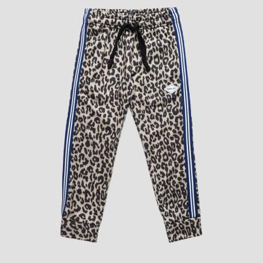 Animalier print trousers- REPLAY&SONS SG9315_050_29868KP_010_1