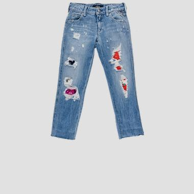 Carrot fit jeans with tears- REPLAY&SONS SG9317_053_100-417_001_1
