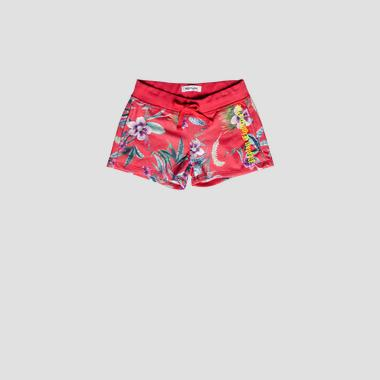 Shorts with floral print- REPLAY&SONS SG9575_051_29868KI_814_1