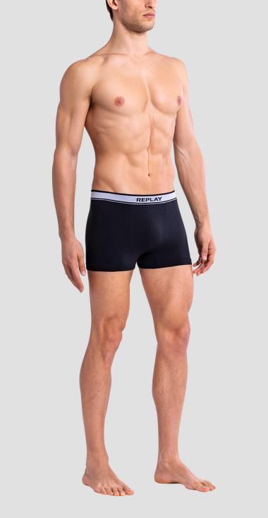 Set of two 4-Way stretch cotton boxer briefs - Replay TM114_000_I101114_N113_1