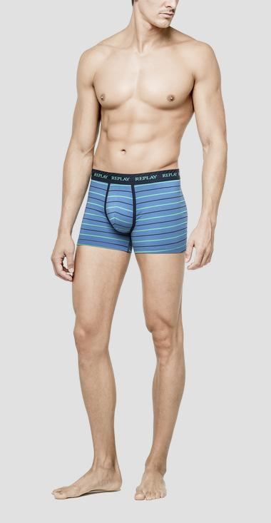 Striped stretch jacquard boxer briefs - Replay TM246_000_N195_B52_1
