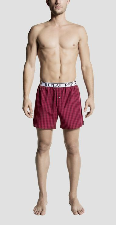 Checked cotton boxer shorts - Replay TM282_000_N067_A46_1