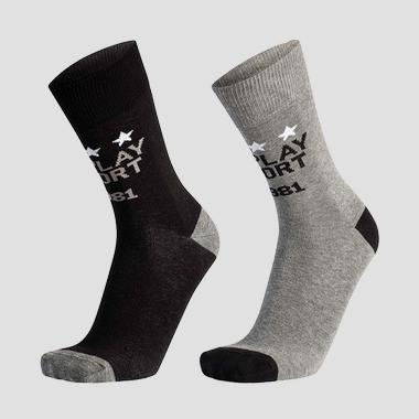 Pack of 2 contrast jacquard socks - Replay TU760_000_C100760_N113_1