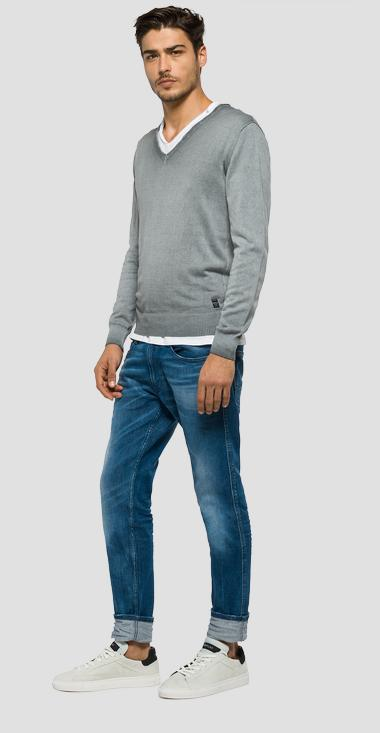 Faded cotton jumper - Replay UK1501_000_G20784A_493_1
