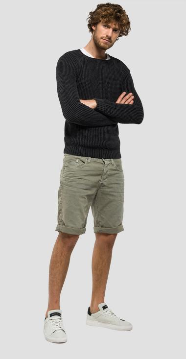 Knitted cotton crewneck jumper - Replay UK1511_000_G21280G_098_1