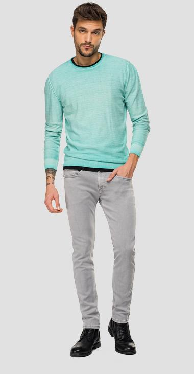 Crewneck sweater with faded effect - Replay UK2656_000_G20784A_318_1
