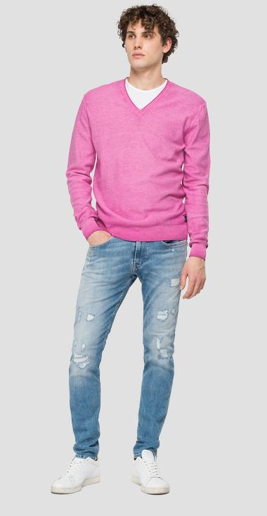 V-neck cotton sweater - Replay UK2657_000_G20784A_306_1