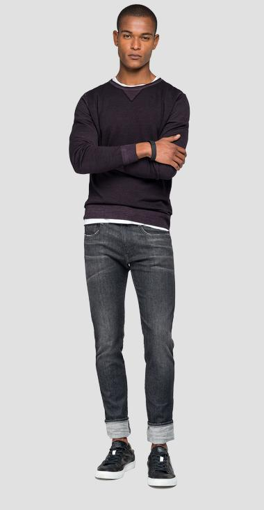 Crewneck wool sweater - Replay UK3057_000_G21900_278_1