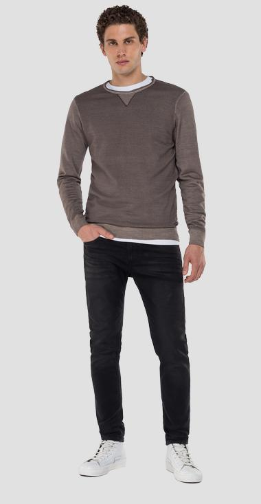 Wool crewneck sweater - Replay UK3057_000_G21900_327_1