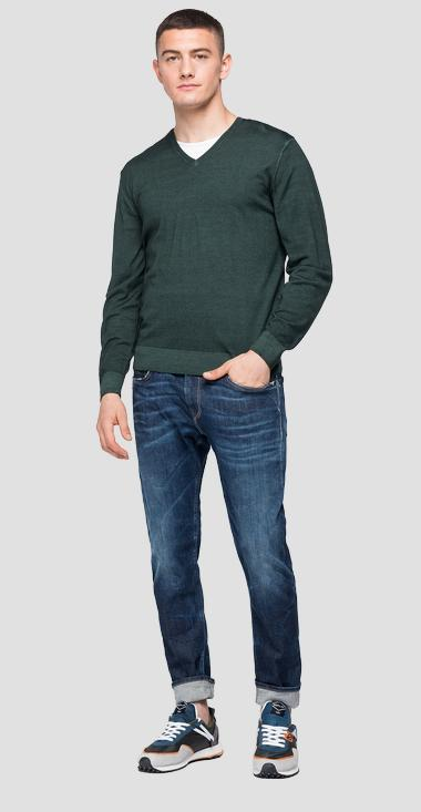 V-neck wool sweater - Replay UK3058_000_G21900_135_1