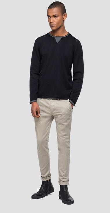 Sweater with contrasting-coloured details - Replay UK3065_000_G22558_098_1