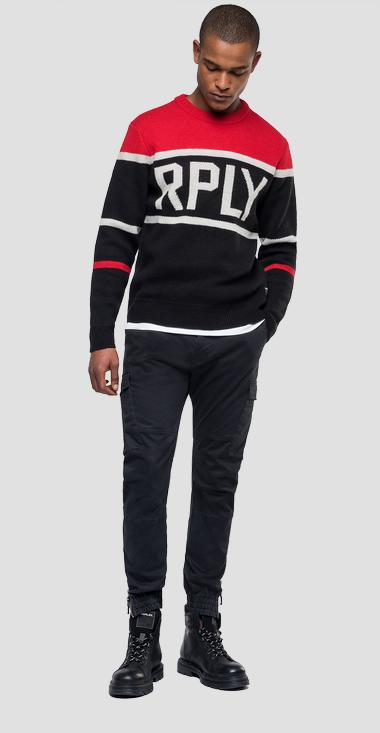 Tricolour RPLY sweater - Replay UK3070_000_G2897J_060_1