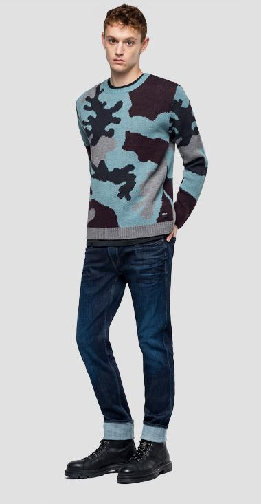 Camouflage pattern sweater - Replay UK3072_000_G2897J_080_1