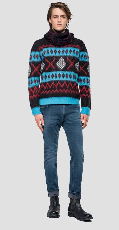Sweater with geometrical pattern - Replay UK3078_000_G22652_010_1