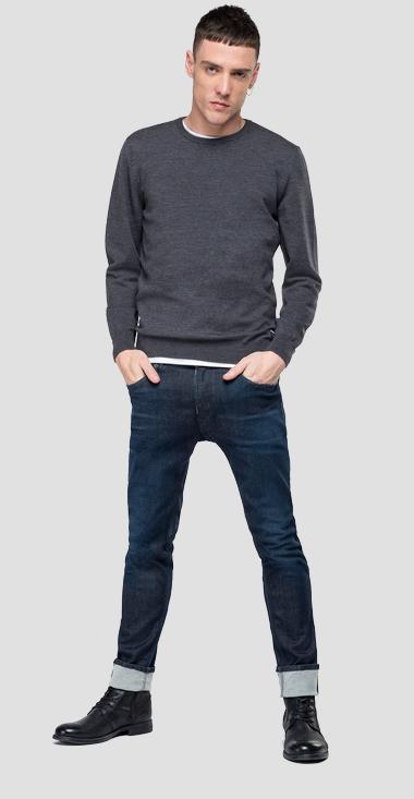 Crewneck sweater in Merino wool - Replay UK3080_000_G22734_M10_1