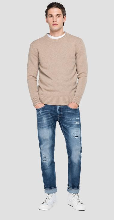 Recycled cashmere crewneck sweater - Replay UK3081_000_G22736_M19_1