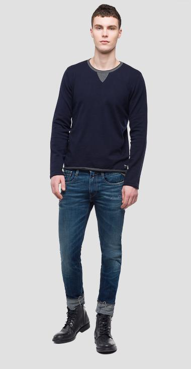 Sweater contrasting collar - Replay UK4055_000_G22558_086_1