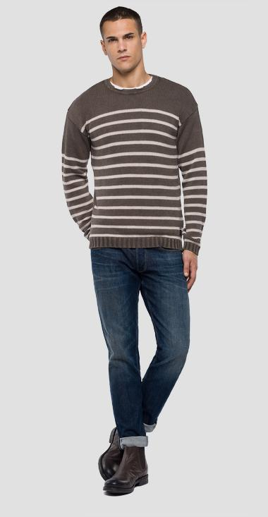 Striped sweater enzyme dyed - Replay UK4068_000_G22454G_234_1