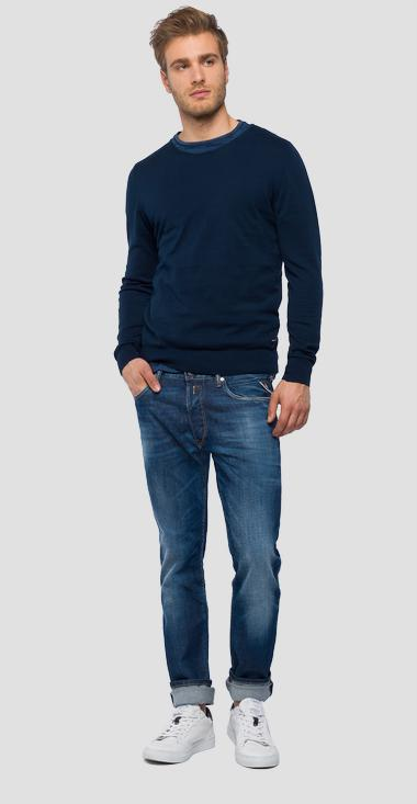 Slim crewneck sweater - Replay UK4103_000_G22582B_085_1