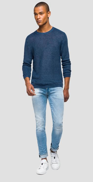 Linen slim sweater - Replay UK4111_000_G22082B_M35_1