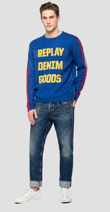REPLAY DENIM GOODS tricot pullover - Replay UK8005_000_G2897J_185_1
