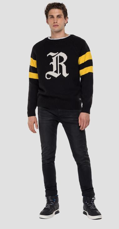 Crewneck pullover with jacquard pattern - Replay UK8010_000_G2897_098_1