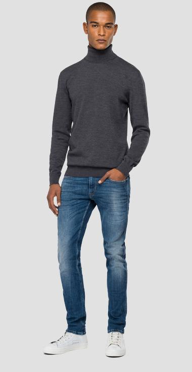 Hyperflex Merino turtleneck sweater - Replay UK8020_000_G22734_M10_1