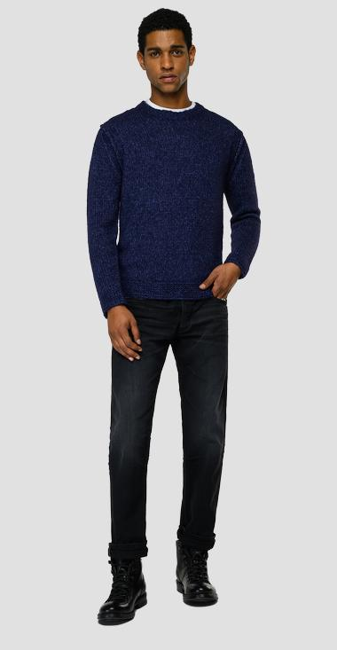 Crewneck pullover in recycled wool - Replay UK8304_000_G23142_986_1