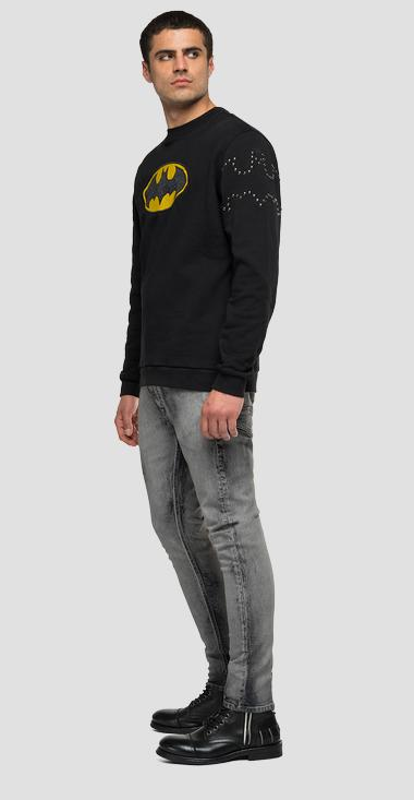 Sweatshirt with studs and REPLAY TRIBUTE LIMITED EDITION BATMAN E JOKER print - Replay UX3001_000_21842_098_1
