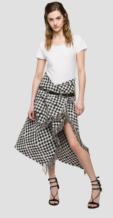 We are Replay jacquard skirt - We are Replay VD5231_000_V51964_010_1