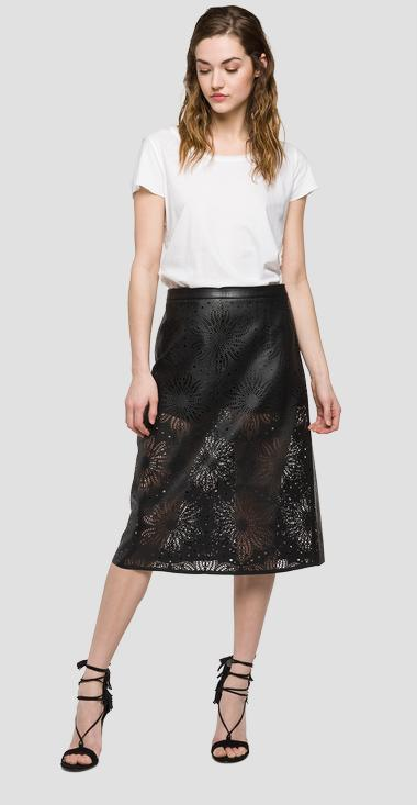 We are Replay lasered faux-leather skirt - We are Replay VD5237_000_V80497A_098_1