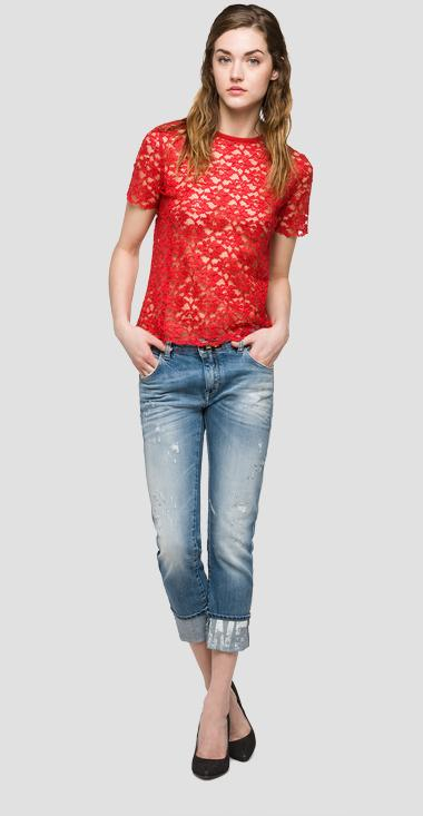 We are Replay lace T-shirt - We are Replay VD7604_000_V82832_814_1