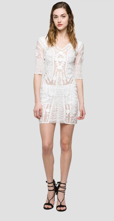 We are Replay short dress with lining - We are Replay VD8257_000_V82582_001_1
