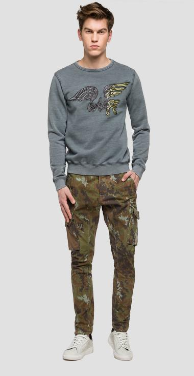 We are Replay embroidered sweatshirt - We are Replay VU6913_000_V21838T_495_1