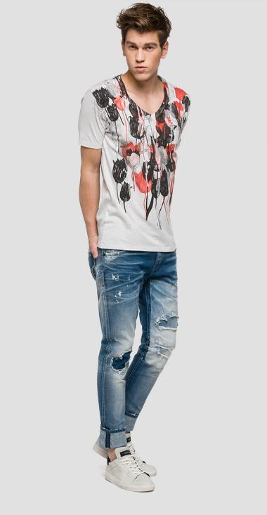 We are Replay tulip print T-shirt - We are Replay VU7962_000_V21384_001_1