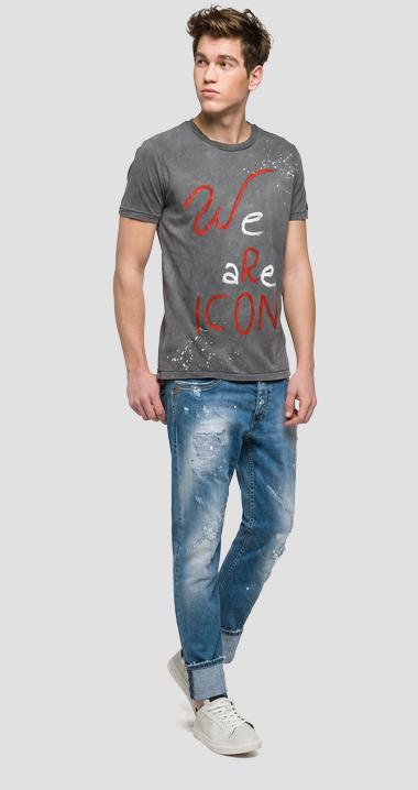 We are Replay printed T-shirt - We are Replay VU7966_000_V21384G_493_1