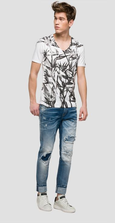 We are Replay printed T-shirt - We are Replay VU7968_000_V21384_001_1
