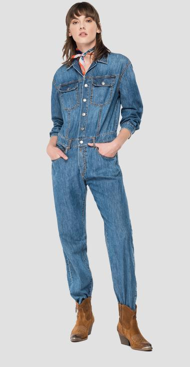 ROSE LABEL denim overalls - Replay W1047_000_26C-81A_009_1