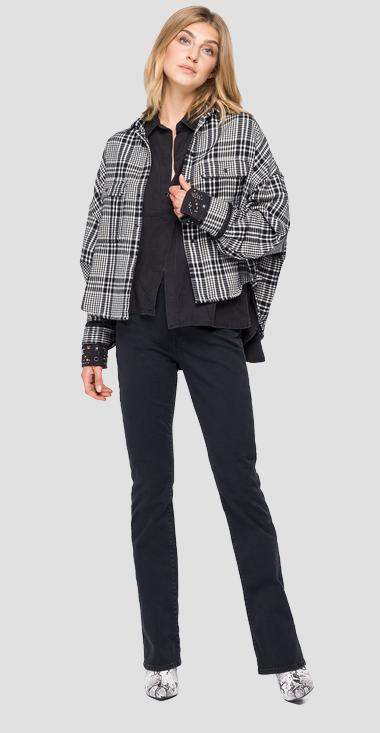 Cotton shirt with houndstooth - Replay W2000_000_52328_010_1