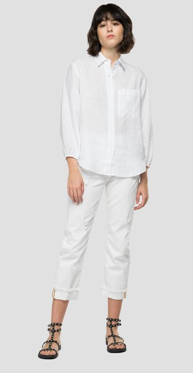 Essential comfort fit shirt in linen - Replay W2040A_000_84076G_001_1