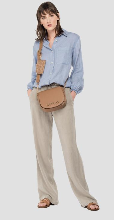 Essential comfort fit shirt in linen - Replay W2040A_000_84076G_781_1