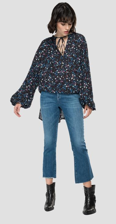 Chiffon shirt with floral print - Replay W2065A_000_73504_010_1