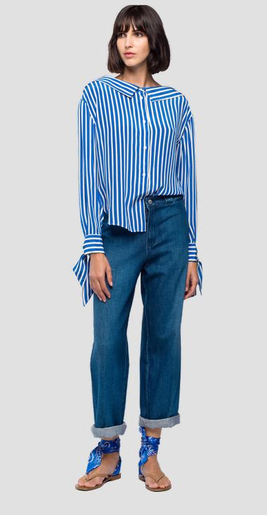 Shirt with striped print - Replay W2207_000_71726_010_1